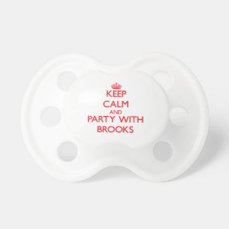 Keep calm and Party with Brooks Baby Pacifier