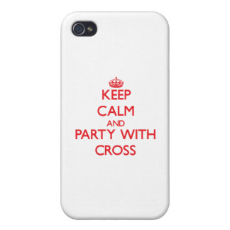 Keep calm and Party with Cross iPhone 4 Cover