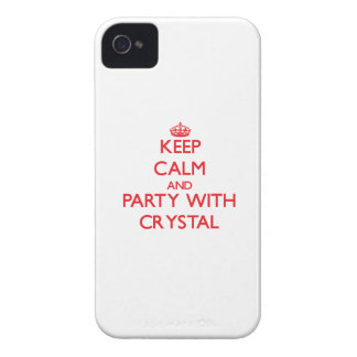Keep calm and Party with Crystal iPhone 4 Case-Mate Case