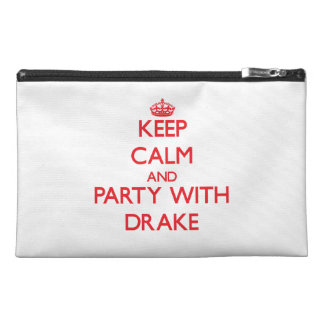 Keep calm and Party with Drake Travel Accessory Bags