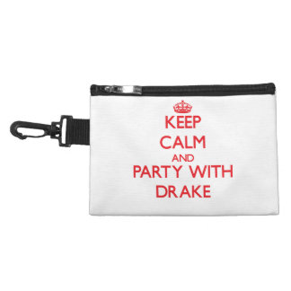 Keep calm and Party with Drake Accessory Bags