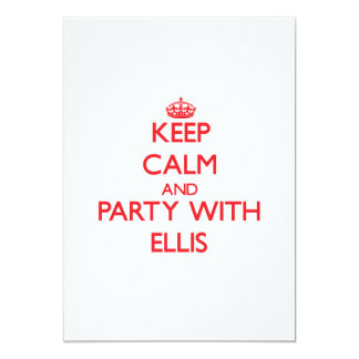 Keep calm and Party with Ellis Custom Invitation