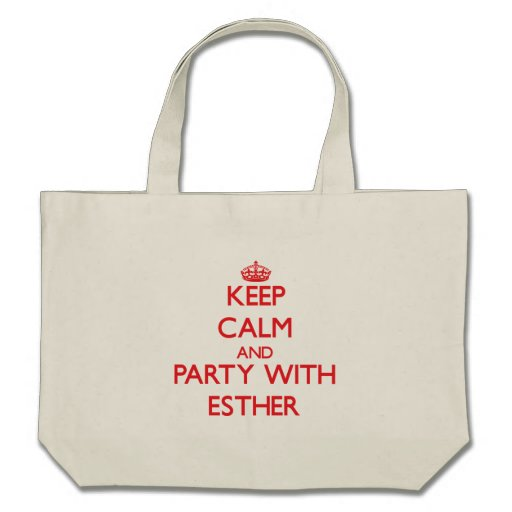Keep Calm and Party with Esther Canvas Bags