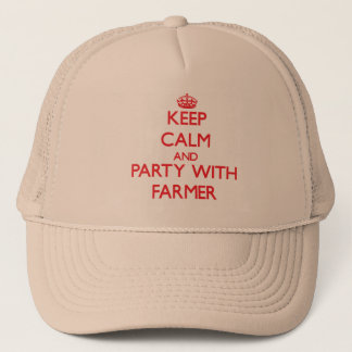 Keep calm and Party with Farmer Trucker Hat
