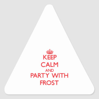Keep calm and Party with Frost Triangle Sticker