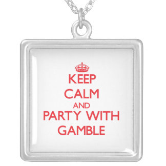Keep calm and Party with Gamble Necklace