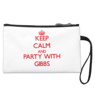 Keep calm and Party with Gibbs Wristlet Clutch