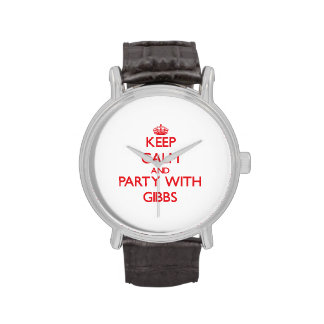 Keep calm and Party with Gibbs Wrist Watch