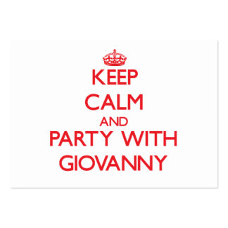 Keep calm and Party with Giovanny Business Cards