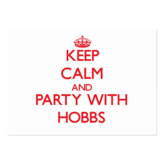 Keep calm and Party with Hobbs Business Card Templates