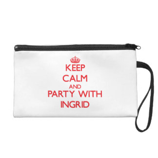 Keep Calm and Party with Ingrid Wristlet Purses