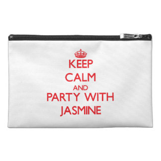 Keep Calm and Party with Jasmine Travel Accessories Bag