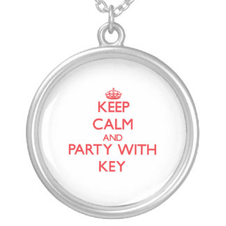 Keep calm and Party with Key Personalized Necklace
