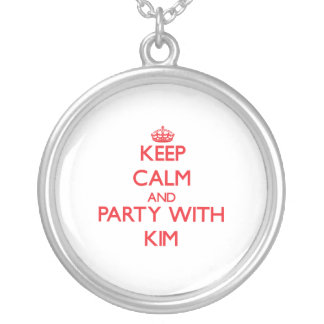 Keep calm and Party with Kim Personalized Necklace