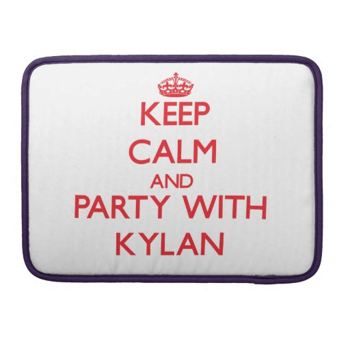 Keep calm and Party with Kylan MacBook Pro Sleeve