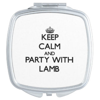 Keep calm and Party with Lamb Vanity Mirror