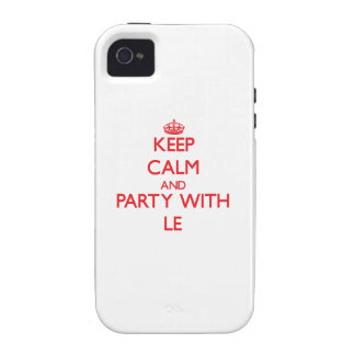 Keep calm and Party with Le iPhone 4/4S Cover