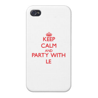 Keep calm and Party with Le Covers For iPhone 4