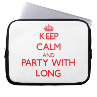 Keep calm and Party with Long Laptop Computer Sleeves