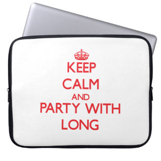 Keep calm and Party with Long Laptop Sleeves