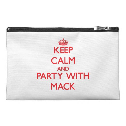 Keep calm and Party with Mack Travel Accessory Bag