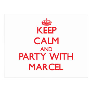 Keep calm and Party with Marcel Postcard