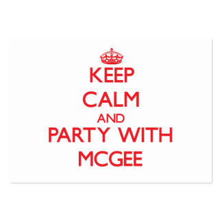 Keep calm and Party with Mcgee Business Card Template