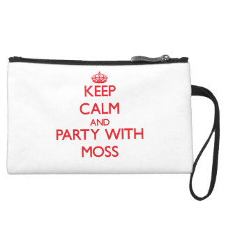 Keep calm and Party with Moss Wristlet Clutches