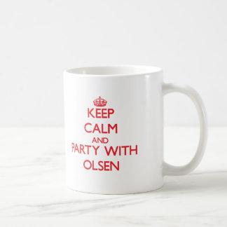 Keep calm and Party with Olsen Basic White Mug