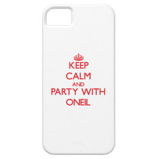 Keep calm and Party with Oneil iPhone 5 Cover