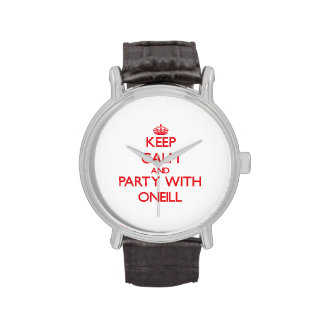 Keep calm and Party with Oneill Wristwatch
