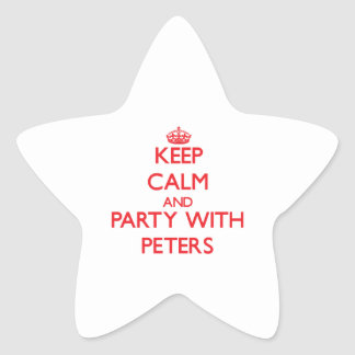 Keep calm and Party with Peters Star Stickers