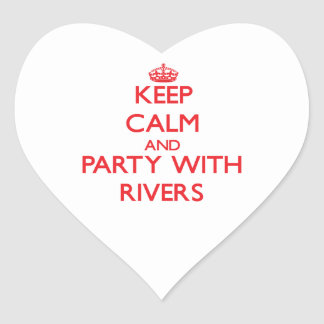 Keep calm and Party with Rivers Sticker