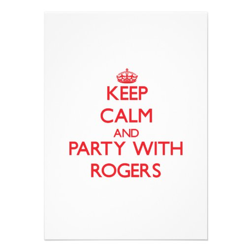 Keep calm and Party with Rogers Personalized Announcements