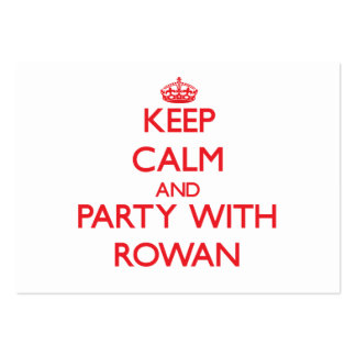 Keep Calm and Party with Rowan Pack Of Chubby Business Cards