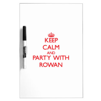 Keep Calm and Party with Rowan Dry Erase Boards