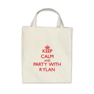 Keep calm and Party with Rylan Canvas Bag
