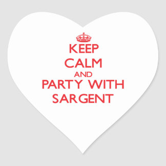 Keep calm and Party with Sargent Heart Sticker