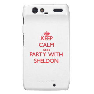 Keep calm and Party with Sheldon Droid RAZR Cover