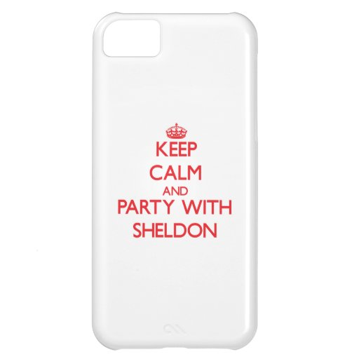 Keep calm and Party with Sheldon Case For iPhone 5C