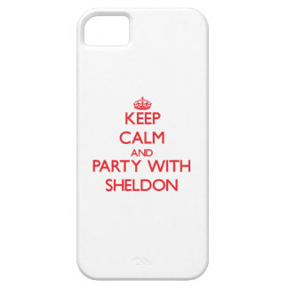 Keep calm and Party with Sheldon iPhone 5 Covers