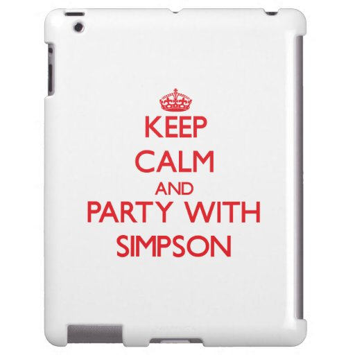 Keep calm and Party with Simpson