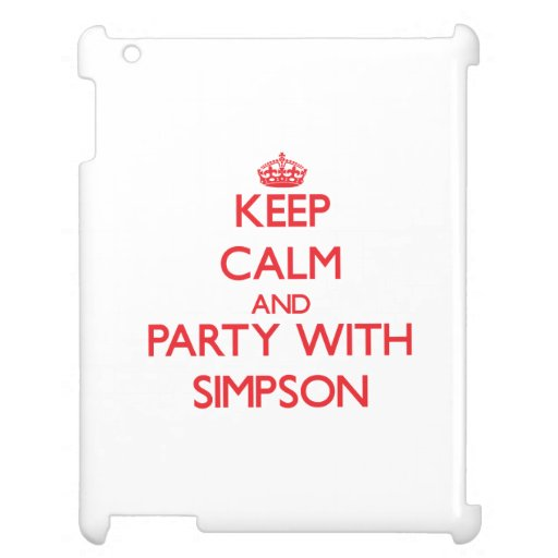 Keep calm and Party with Simpson Cover For The iPad