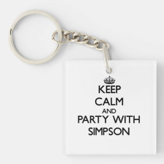 Keep calm and Party with Simpson Key Chain