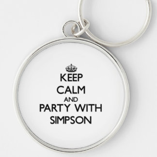 Keep calm and Party with Simpson Key Chains