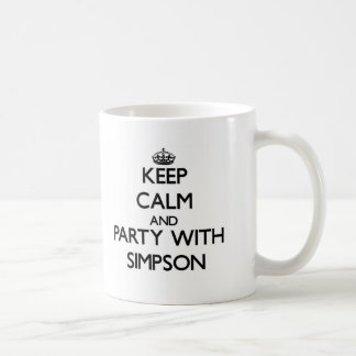 Keep calm and Party with Simpson Coffee Mug