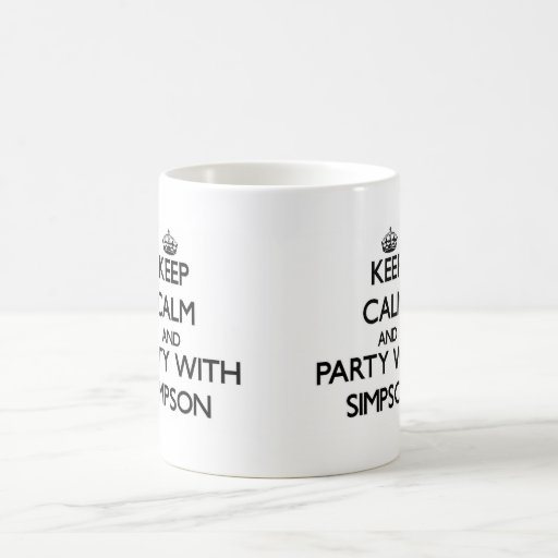Keep calm and Party with Simpson Mug