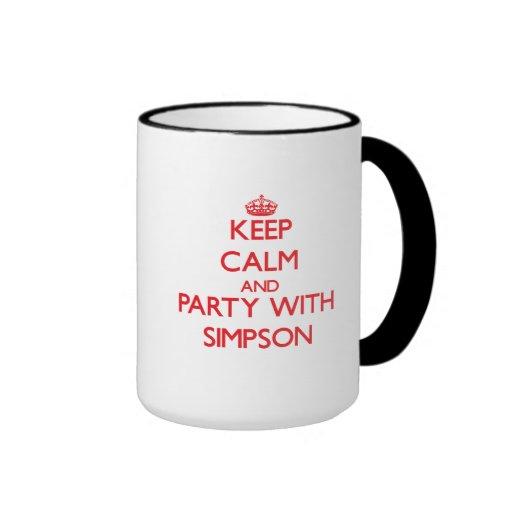 Keep calm and Party with Simpson Coffee Mug