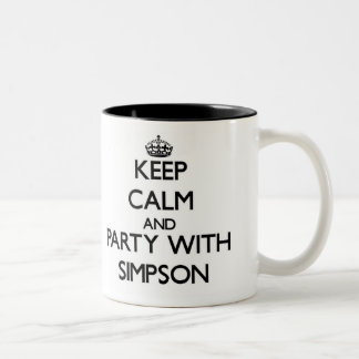 Keep calm and Party with Simpson Coffee Mugs