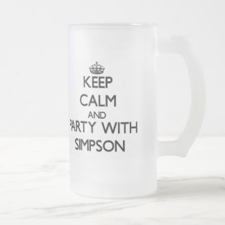 Keep calm and Party with Simpson Beer Mug